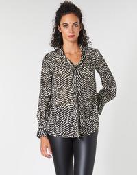 Kleidung Damen Tops / Blusen Ikks BP13065-02 Beige / Schwarz