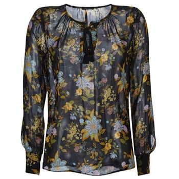 Kleidung Damen Tops / Blusen Ikks BP13125-02 Schwarz / Multicolor