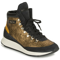 Schuhe Damen Sneaker High Philippe Model MONTECARLO Gold / Schwarz