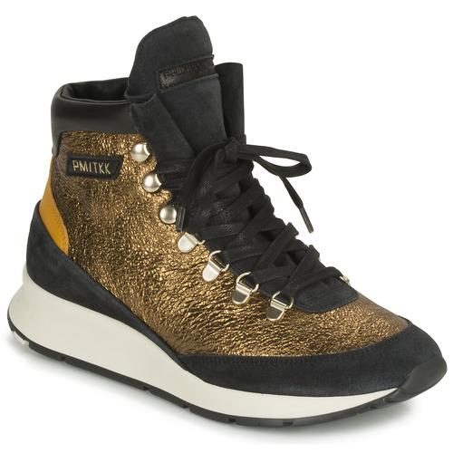 Schuhe Damen Sneaker Low Philippe Model MONTECARLO Gold / Schwarz