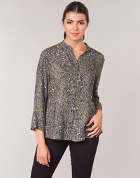 Kleidung Damen Tops / Blusen One Step CARLY CHEMISE Kaki / Multicolor