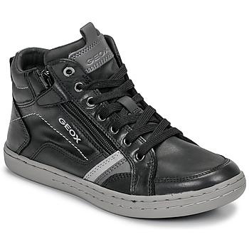 Schuhe Jungen Sneaker High Geox JR GARCIA BOY Schwarz / Grau