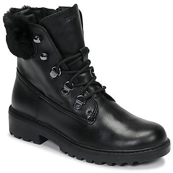 Schuhe Mädchen Boots Geox J CASEY GIRL WPF Schwarz