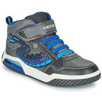 Schuhe Jungen Sneaker High Geox J INEK BOY Schwarz / Blau