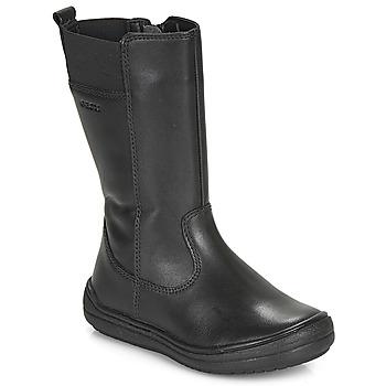 Schuhe Mädchen Klassische Stiefel Geox J HADRIEL GIRL Schwarz