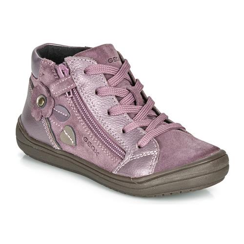 Schuhe Mädchen Boots Geox J HADRIEL GIRL Pflaume