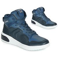 Schuhe Jungen Sneaker High Geox J XLED BOY Blau /  led