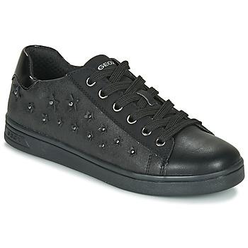Schuhe Mädchen Sneaker Low Geox J DJROCK GIRL Schwarz