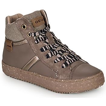 Schuhe Mädchen Sneaker High Geox J KALISPERA GIRL Grau