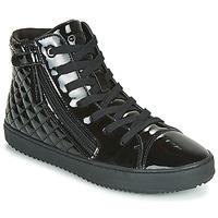Schuhe Mädchen Sneaker High Geox J KALISPERA GIRL Schwarz