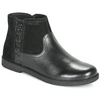 Schuhe Mädchen Boots Geox J SHAWNTEL Schwarz