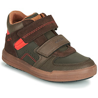 Schuhe Jungen Sneaker High Geox J ARZACH BOY Braun / Orange