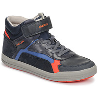 Schuhe Jungen Sneaker High Geox J ARZACH BOY Blau / Orange