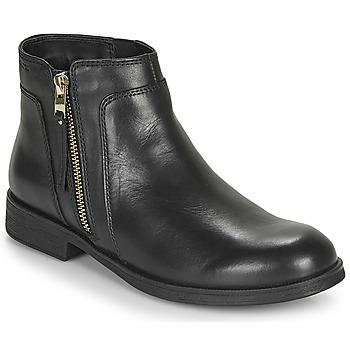 Schuhe Mädchen Boots Geox JR AGATA Schwarz