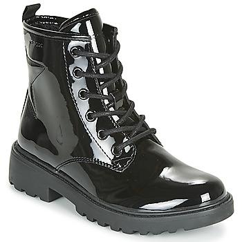 Schuhe Mädchen Boots Geox J CASEY GIRL Schwarz