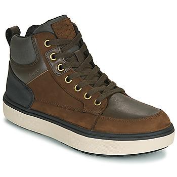 Schuhe Jungen Sneaker High Geox J MATTIAS B BOY ABX Kaffee / Schwarz