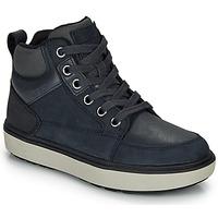 Schuhe Jungen Sneaker High Geox J MATTIAS B BOY ABX Blau / Schwarz / Spillo gold
