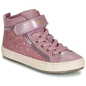 Schuhe Mädchen Sneaker High Geox J KALISPERA GIRL Rose