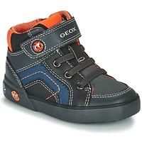 Schuhe Jungen Sneaker High Geox B KILWI BOY Grau / Schwarz