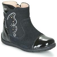 Schuhe Mädchen Klassische Stiefel Geox B KAYTAN Schwarz