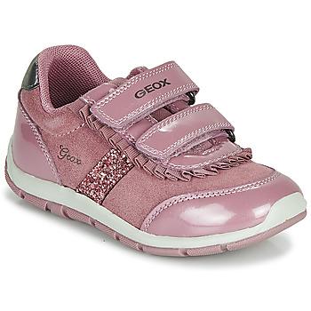 Schuhe Mädchen Sneaker Low Geox B SHAAX Rose