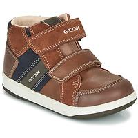 Schuhe Jungen Sneaker High Geox B NEW FLICK BOY Braun / Blau