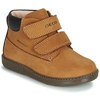 Schuhe Jungen Boots Geox B HYNDE BOY WPF Braun