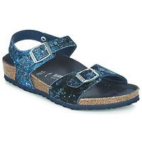 Schuhe Mädchen Sandalen / Sandaletten Birkenstock Rio Navy / Glitterfarbe