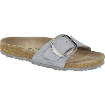 Schuhe Pantoffel Birkenstock & Co.kg Birkenstock Madrid washed metallic blue silver 1012886 Other