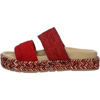 Schuhe Damen Leinen-Pantoletten mit gefloch IgI&CO 31972/33 RED