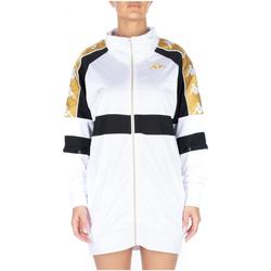 Kleidung Damen Kurze Kleider Kappa 222 BANDA 10 BANIK 913-white-black-yellow