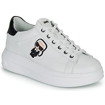 Schuhe Damen Sneaker Low Karl Lagerfeld KAPRI KARL IKONIC LO LACE Weiss / Schwarz