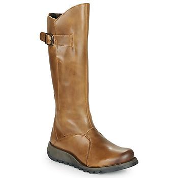 Schuhe Damen Klassische Stiefel Fly London MOL 2 Camel