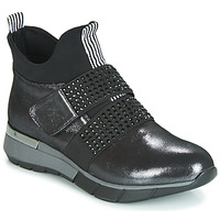 Schuhe Damen Sneaker High Metamorf'Ose FAGNO Schwarz