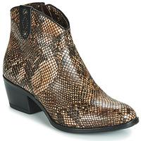 Schuhe Damen Boots Metamorf'Ose FALERS Braun