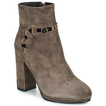 Schuhe Damen Low Boots Café Noir JULIET Maulwurf