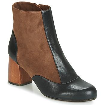 Schuhe Damen Low Boots Chie Mihara MICHELE Schwarz / Braun