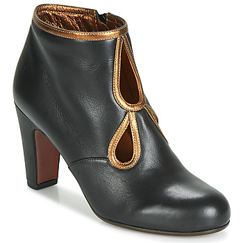 Schuhe Damen Low Boots Chie Mihara KOSPI Schwarz / Gold