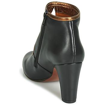 Chie Mihara KOSPI Schwarz / Gold - Kostenloser Versand |  - Schuhe Low Boots Damen 29580