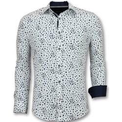 Kleidung Herren Langärmelige Hemden Tony Backer Langarm Slim Weib Weiß