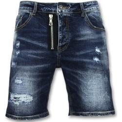 Kleidung Herren Shorts / Bermudas Enos Kurze Jeanshosen Für Kurze Jeans Shorts Blau