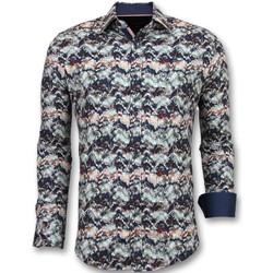 Kleidung Herren Langärmelige Hemden Tony Backer Paisley Für Schwarz