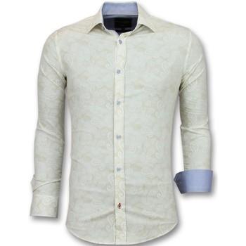 Kleidung Herren Langärmelige Hemden Tony Backer Für Junge Slim Weib Beige