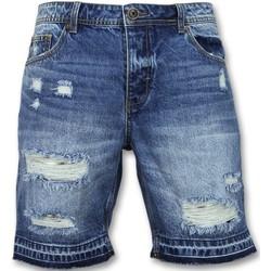 Kleidung Herren Shorts / Bermudas Enos Kurze Jeans Shorts Kurze Jeanshosen Für Blau