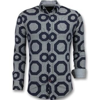 Kleidung Herren Langärmelige Hemden Tony Backer Business Slim Blau