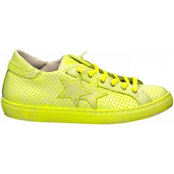 Schuhe Damen Sneaker Low 2 Stars LOW PRINT bianco-giallo