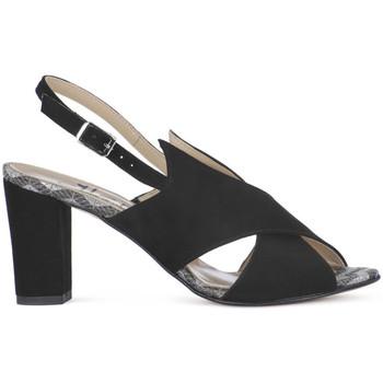 Ellen CAMOSCIO NERO Nero - Schuhe Sandalen / Sandaletten Damen 6800