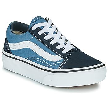Schuhe Kinder Sneaker Low Vans UY OLD SKOOL Marine / Weiss