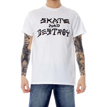 Kleidung Herren T-Shirts Thrasher 110103 Bianco