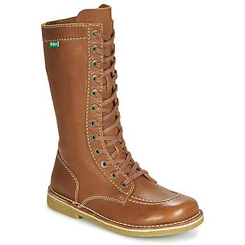 Schuhe Damen Klassische Stiefel Kickers MEETKIKNEW Camel